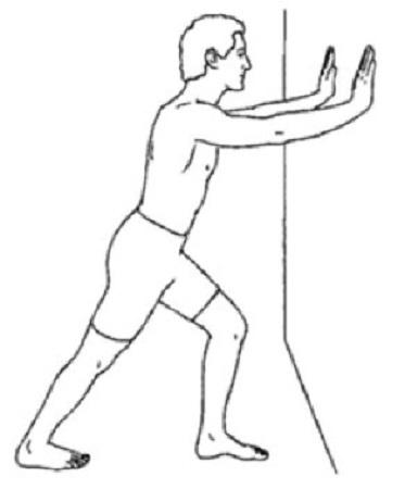 کشش عضله ساق پا در حالت ایستاده
