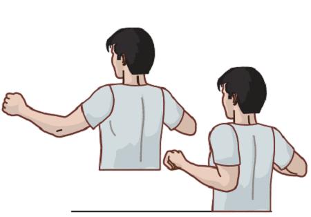کشیدن تیغه شانه